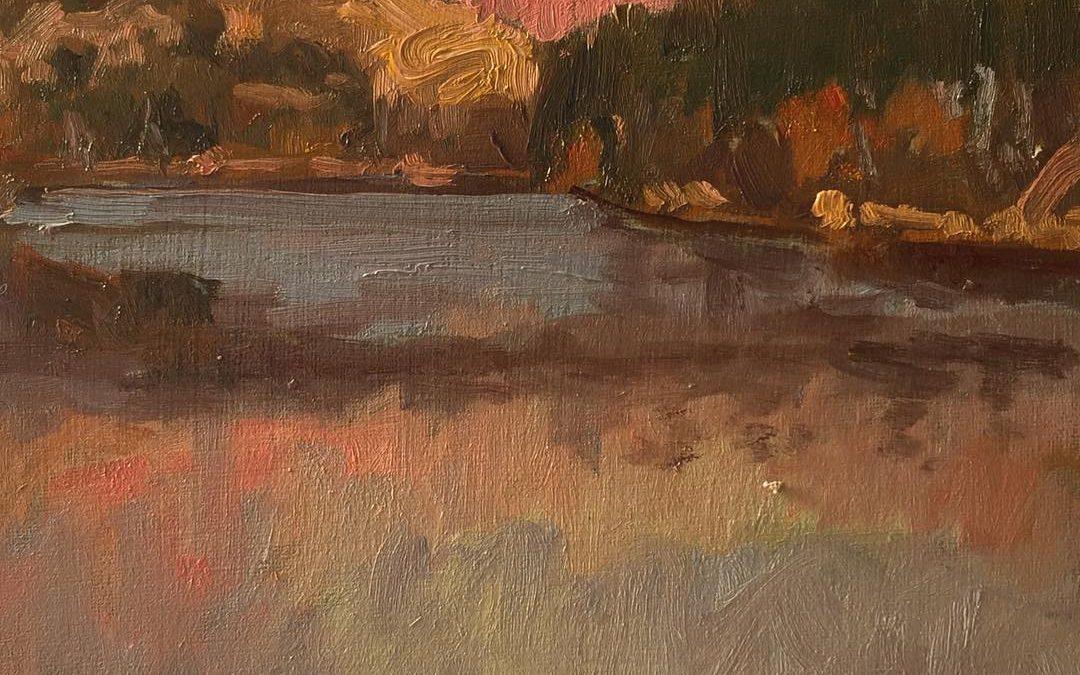 Sunset at Ripley Lake