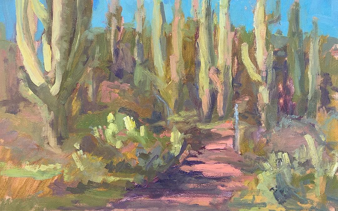 Saguaro cactus. Spur cross park
