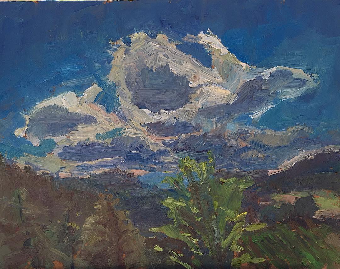 Backlit clouds, Summerland