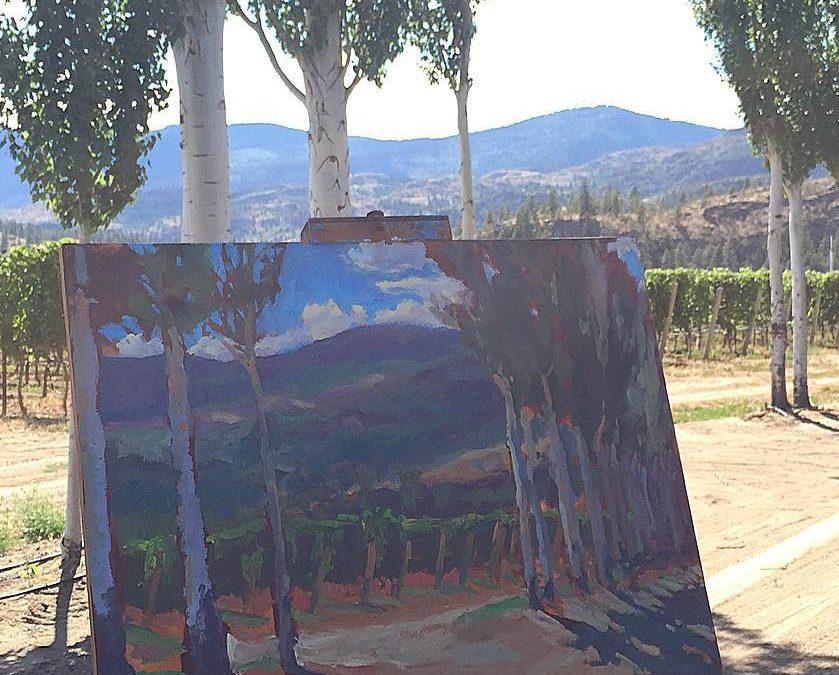 Towering Poplars underpainting