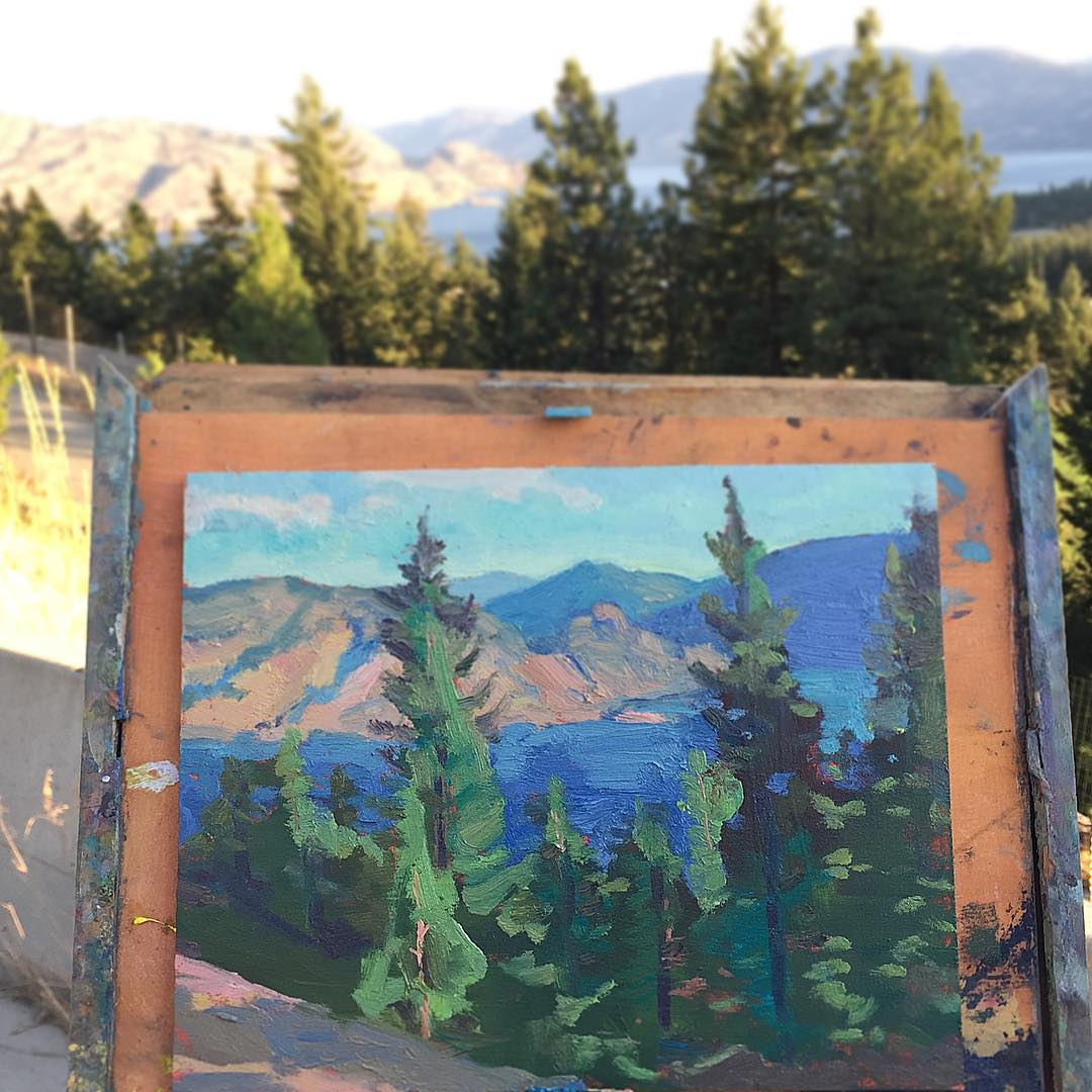 Peachland View. 10 x 8.