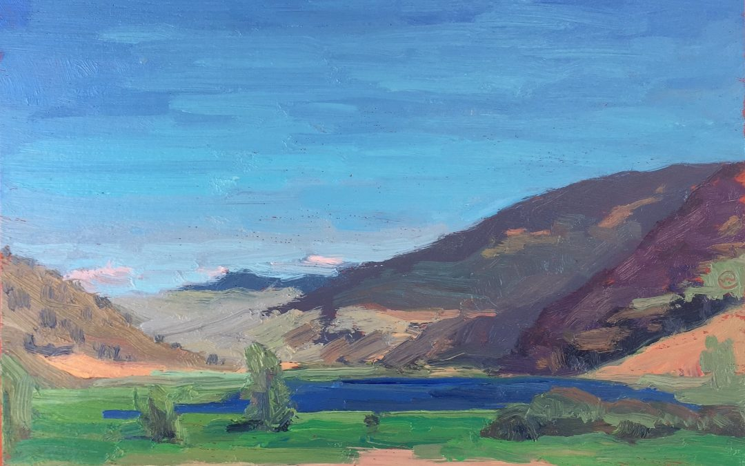 Nicola Lake. Lower Vantage Point. 12 x 9.