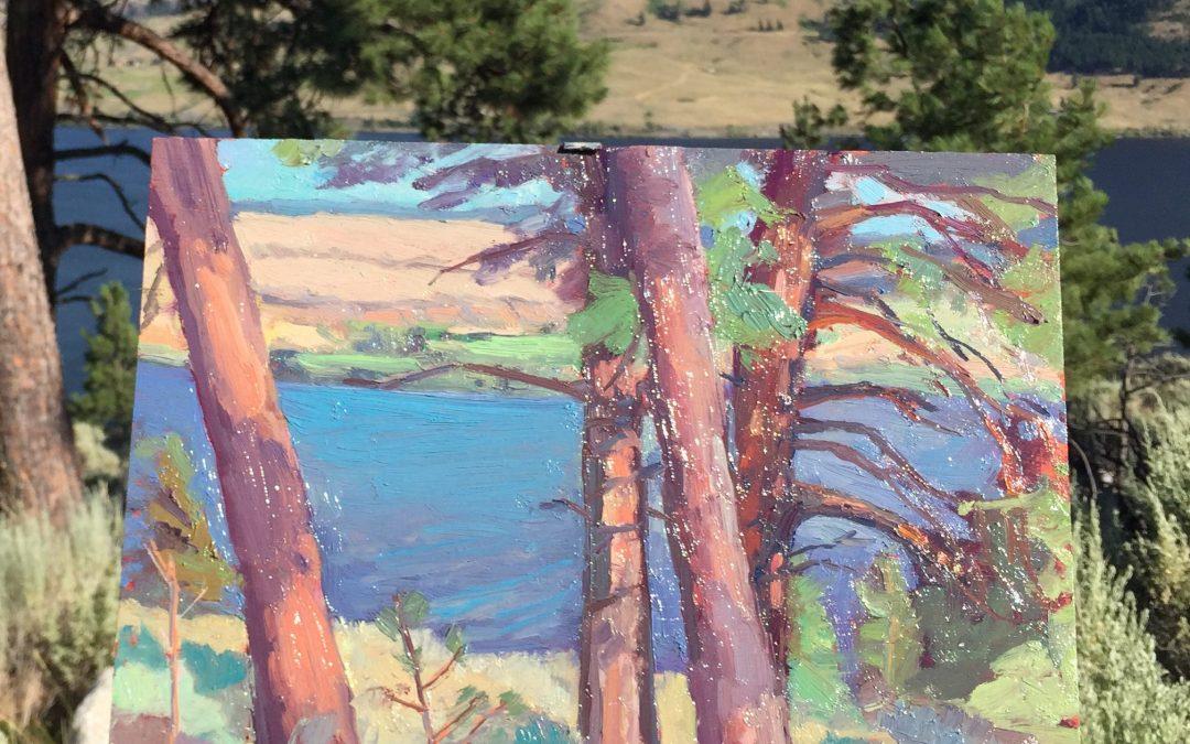 Pines at Nicola Lake. 14 x 11.