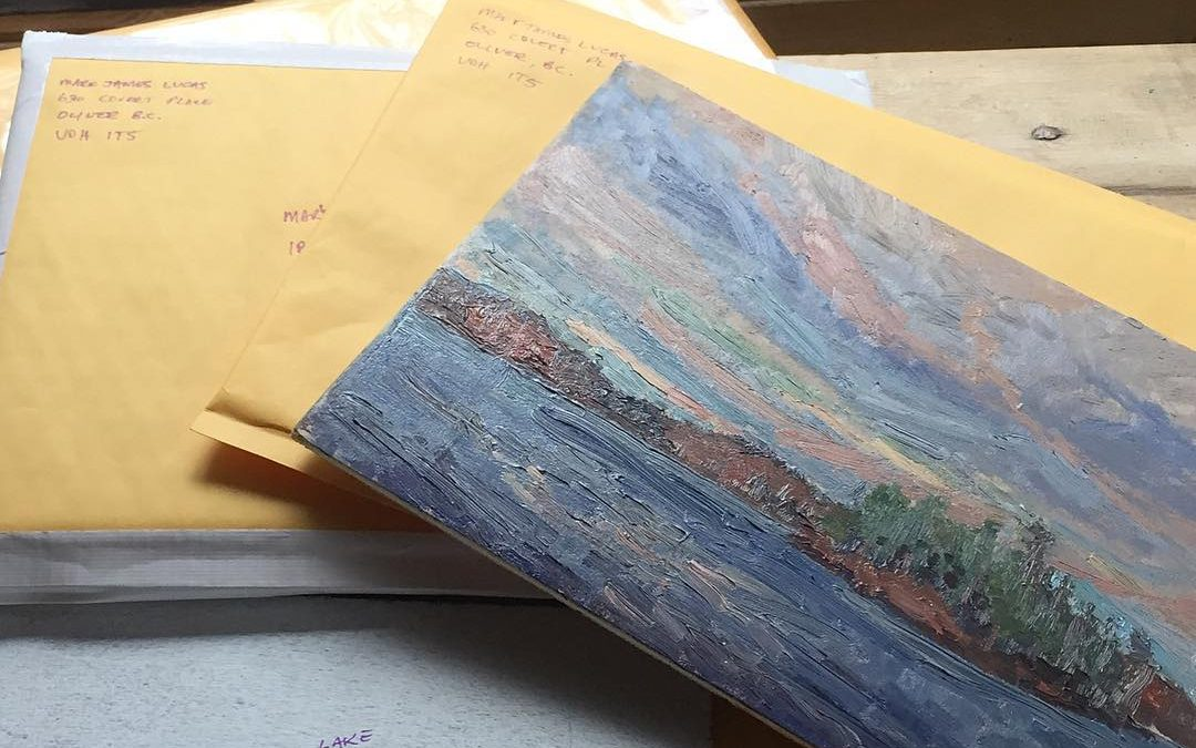 Shipping day! So grateful for my collectors across the globe. It's because of you purchasing a painting that allows me to continue doing what I love. So Thank You!I'm proud to announce another international collector. 'Sunrise Over Gull Lake' is off to Portugal today. 🇵🇹!!! Stoked. I hope all these plein air paintings bring you collectors as much joy hanging on your walls as I received creating them. For everyone wishing they could own one of these original oil paintings, reach out to me for availability and pricing. These bad boys make great Christmas gifts. Just sayin