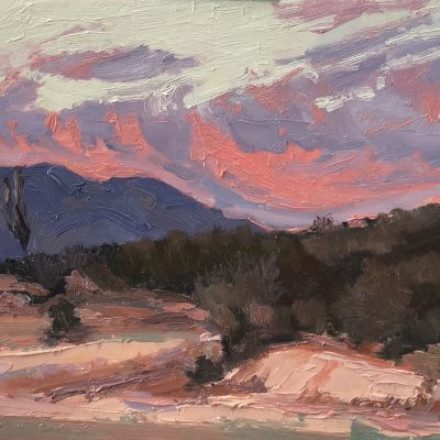 Baja California Sur Sunset oil painting