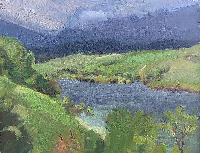 Hyrum Storm Clouds . . . #pleinair #studio #pochade #art #impresssionism #postimpressionism #painting #oilpainting #landscapepainting #pleinairpainting #pleinairmag #plein_air_life #utah #instaart