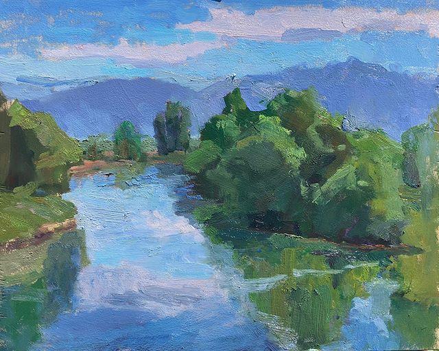 Wellsville Reservoir . . . #pleinair #studio #pochade #art #impresssionism #postimpressionism #painting #oilpainting #landscapepainting #pleinairpainting #pleinairmag #plein_air_life #utah #instaart