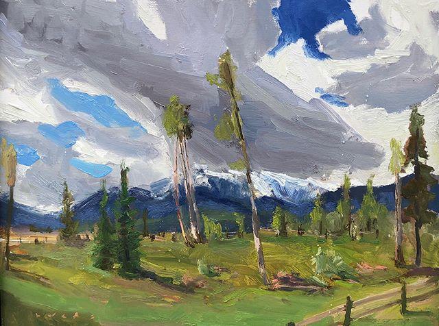 Haller Ranch . . . #pleinair #studio #pochade #art #impresssionism #postimpressionism #painting #oilpainting #landscapepainting #pleinairpainting #pleinairmag #plein_air_life #britishcolumbia #instaart #beautifulbc