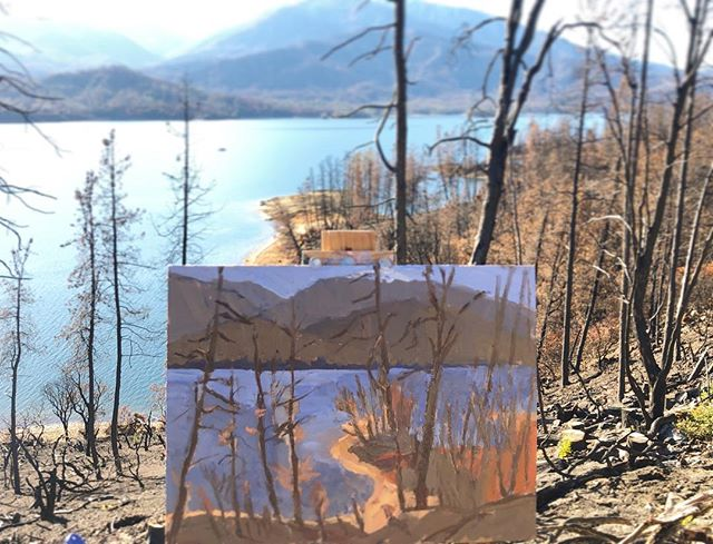 Whiskeytown Lake forest fire aftermath