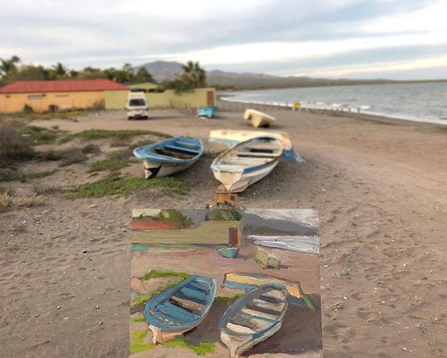 Fishing boats at Loreto
